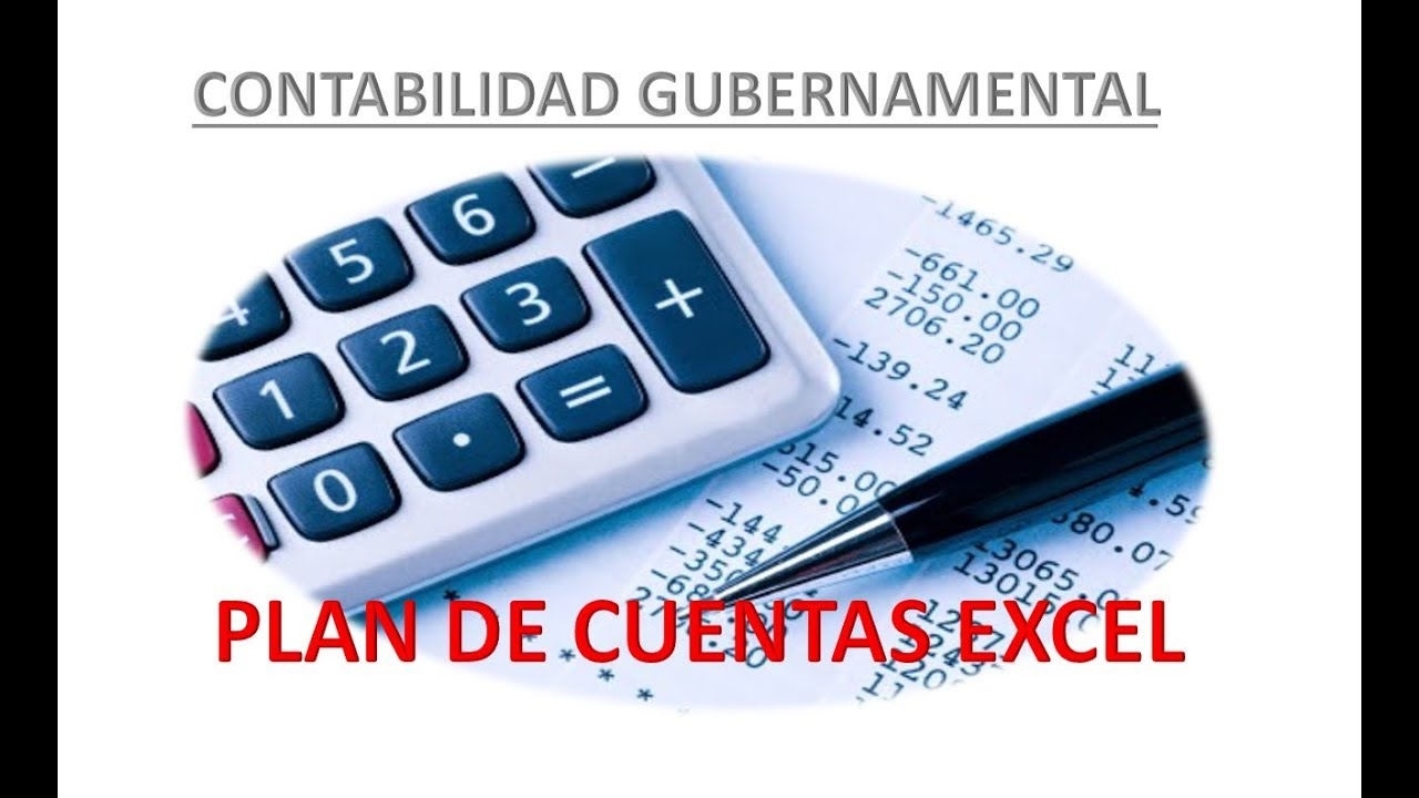 Plan Cotable Gubernamental En Excel Version 2018