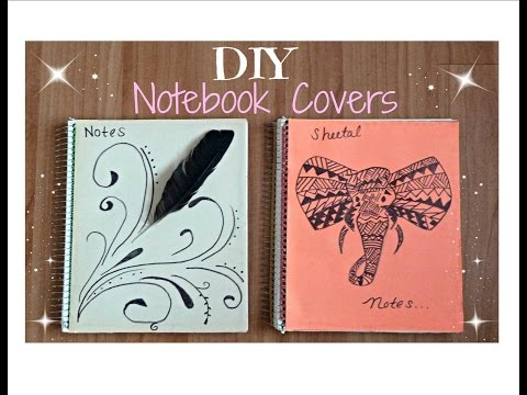 ♥-diy-back-to-school-notebooks-│-tumblr-inspired-│-feathers-&-tribal-elephants