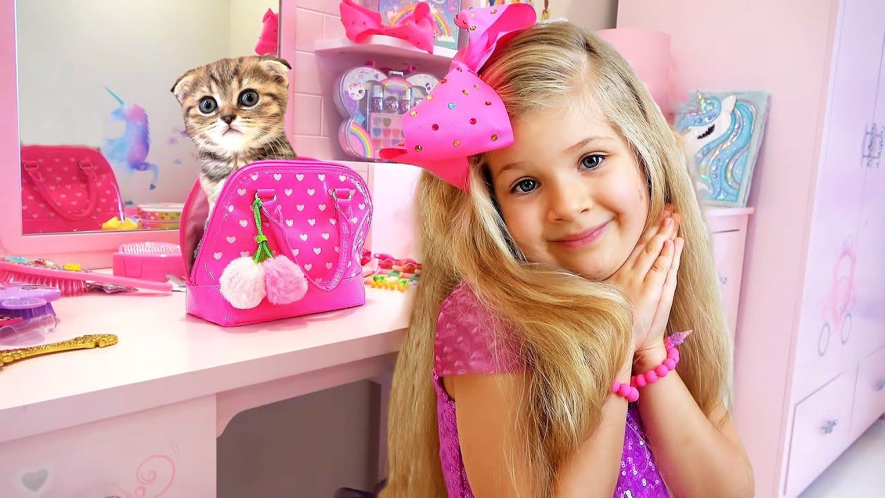 وجدت ديانا وروما قطة مضحكة