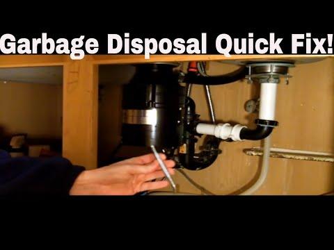 garbage disposal repair quick fix youtube. Black Bedroom Furniture Sets. Home Design Ideas