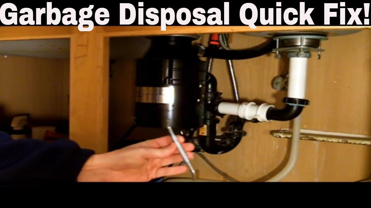 Garbage Disposal Repair Quick Fix on