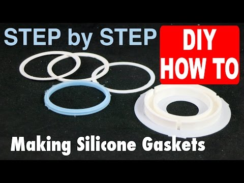 Casting a Silicone Gasket in 3D printed FDM PLA mold from an Ultimaker DIY How To