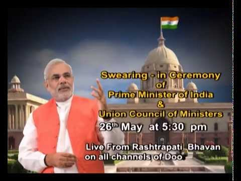 Live on 26th May: Swearing-in-Ceremony of PM of India & Union Council of Ministers