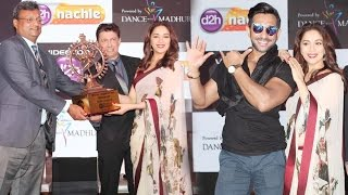 madhuri dixit master terence lewis at videocon d2h nachle channel launch