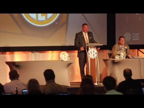 Tennessee head coach Butch Jones at SEC Media Days 2017