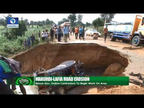 Makurdi Lafia Road Erosion: Benue Gov. Orders Contractors To Begin Work On Area