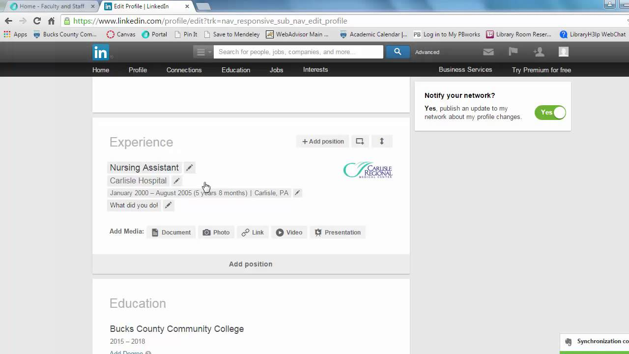 LinkedIn Experience Section YouTube - Invoice linkedin