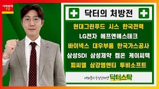 현대그린푸드,시스웍,한국전력,바이넥스,LG전자,에프엔에…