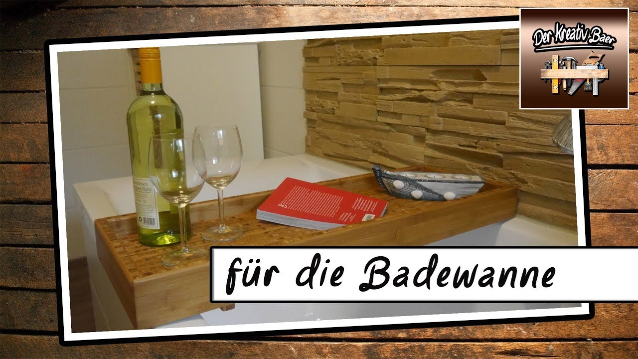 diy deutsch f r die badewanne holz youtube. Black Bedroom Furniture Sets. Home Design Ideas