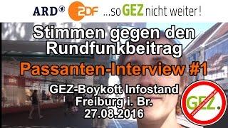 Stimmen gegen den Rundfunkbeitrag #1 / GEZ-Boykott Infostand Freiburg i. Br. 27.08.2016