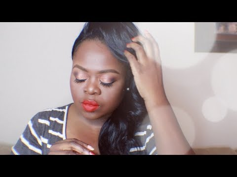 Easy Holiday Makeup Tutorial | Talk through feat Rihanna Lip Paint Stunna (Uncensored)