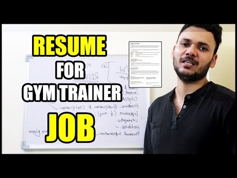 HOW TO MAKE RESUME FOR A JOB AS GYM TRAINER | HINDI | Amit Sharma
