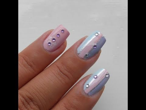 Konad pastel bow nail art tutorial