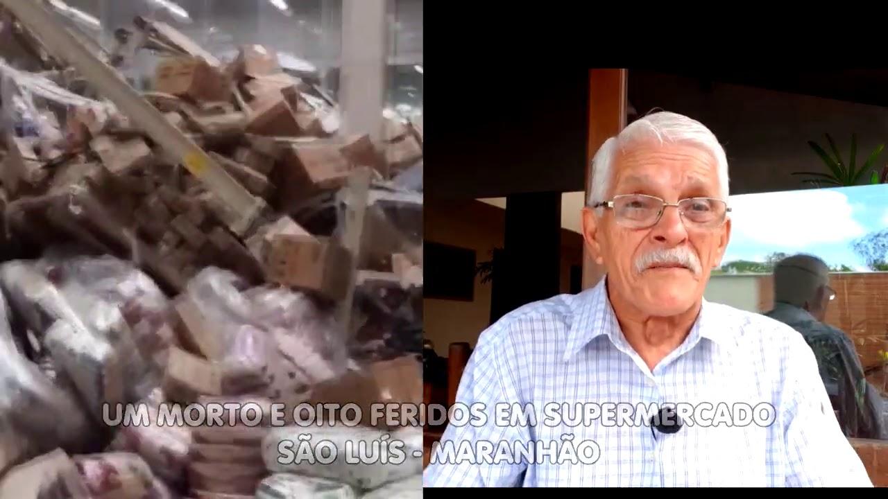 Prateleiras desabam em supermercado.   São Luis - Maranhão