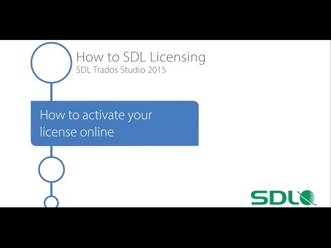 SDL Trados Studio 2015 - How to activate your licence online