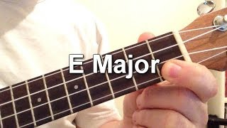 How to play the E Major chord on the ukulele! PLEASE SUBSCRIBE!