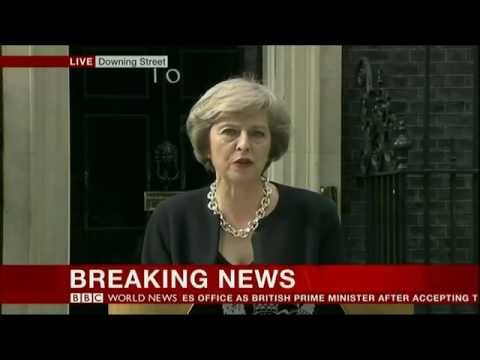2016   BBC World News Special   UK Theresa May Delivers 1st Inaugural Speech as PM   13716   YouTube