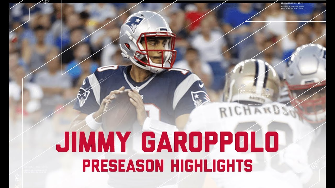 Jimmy Garoppolo Highlights   Saints vs. Patriots   NFL ... Jimmy Garoppolo Patriots Highlights