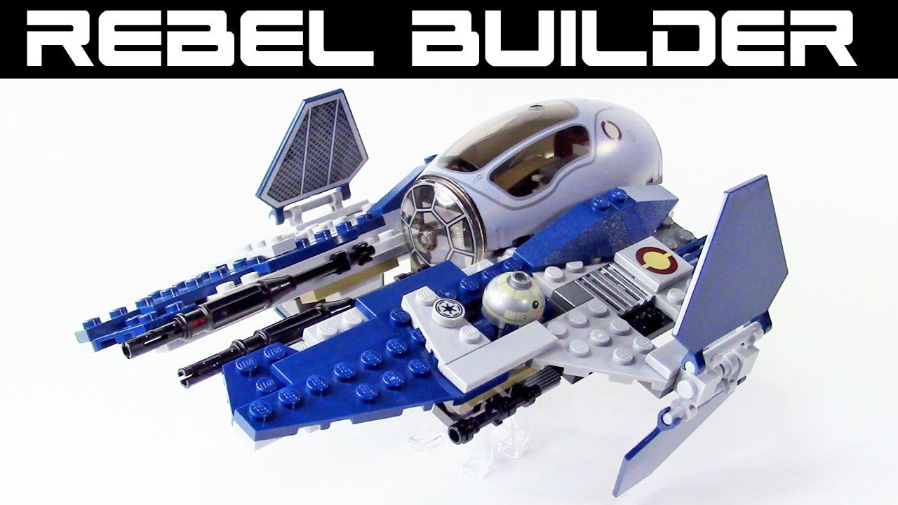 lego star wars jedi interceptor alternate color! set 75038 - youtube