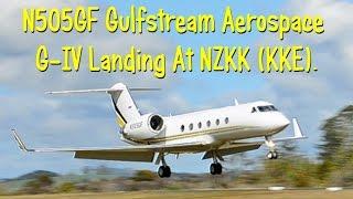 n505gf gulfstream aerospace g iv landing at nzkk kke