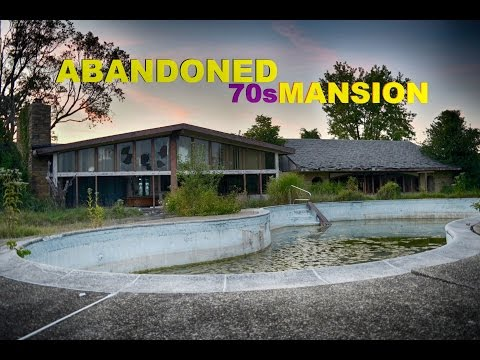 ABANDONED 70S MANSION WITH ABANDONED BASEMENT POOL!!!!!!