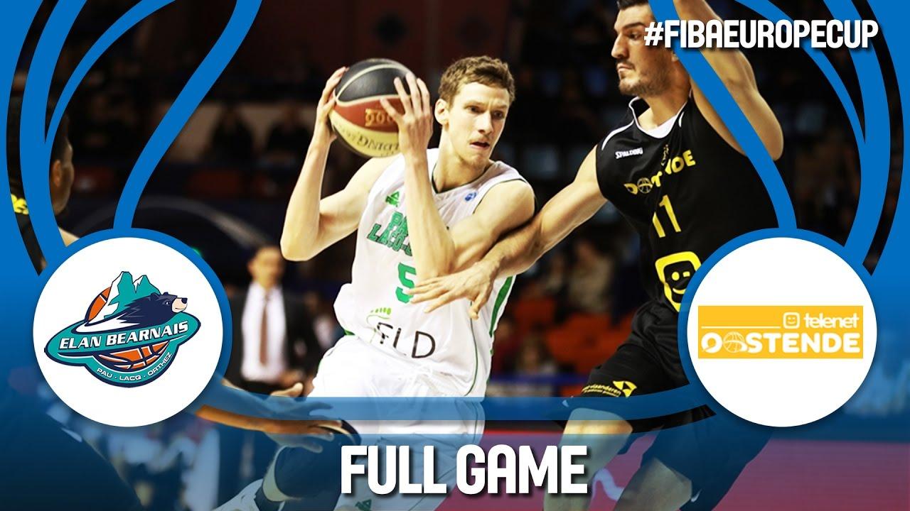 Pau-Lacq-Orthez (FRA) v Telenet Oostende (BEL) - Ro16 - Full Game - FIBA Europe Cup 2016/17