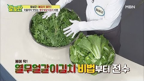 [열무얼갈이김치] 임짱만 따라하면 열무, 얼갈이 손질도 껌(?) MBN 210314 방송