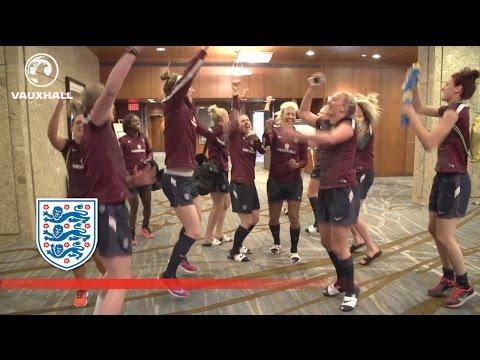 England Women's team do Kolo/Yaya Toure chant | Inside Access