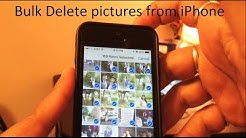 How to bulk delete photos from iPhone 5/5s/6/6s/6sp
