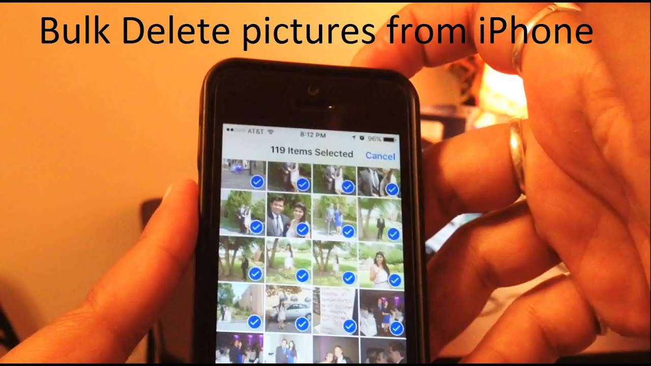 mass delete photos iphone how to bulk delete photos from iphone 5 5s 6 6s 6sp 15668