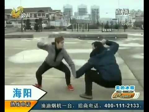 海阳-酷爱螳螂拳洋夫妇有功夫梦