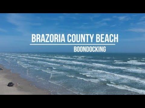 Brazoria County Beach, Texas Boondocking