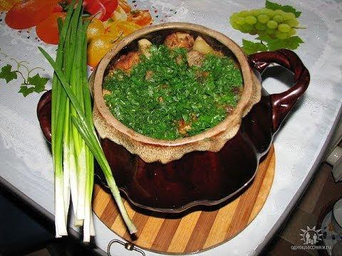 картошка.Картошка в горшочках с куриным филе