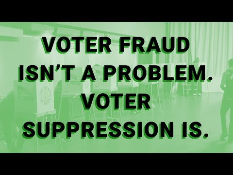 Voter Fraud Isn't a Problem. Voter Suppression Is.