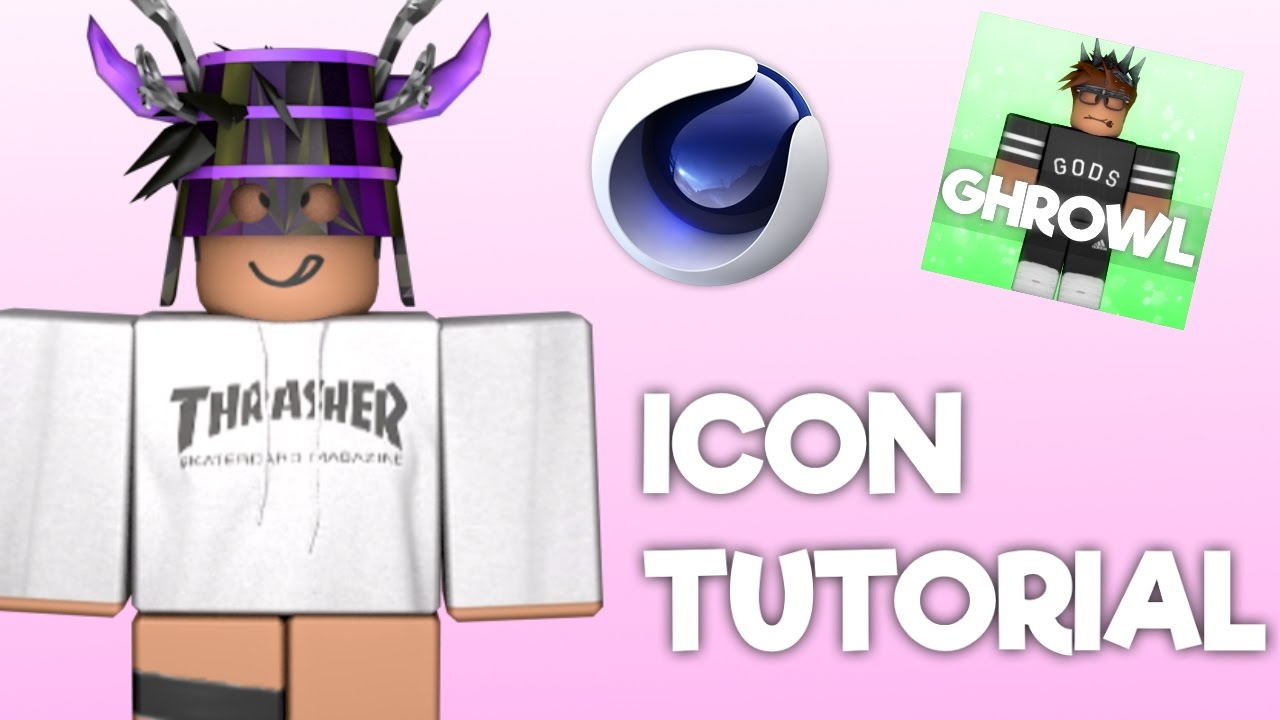 How To Make A Roblox Icon 2020 Roblox Youtube Icon Tutorial Cinema 4d Youtube