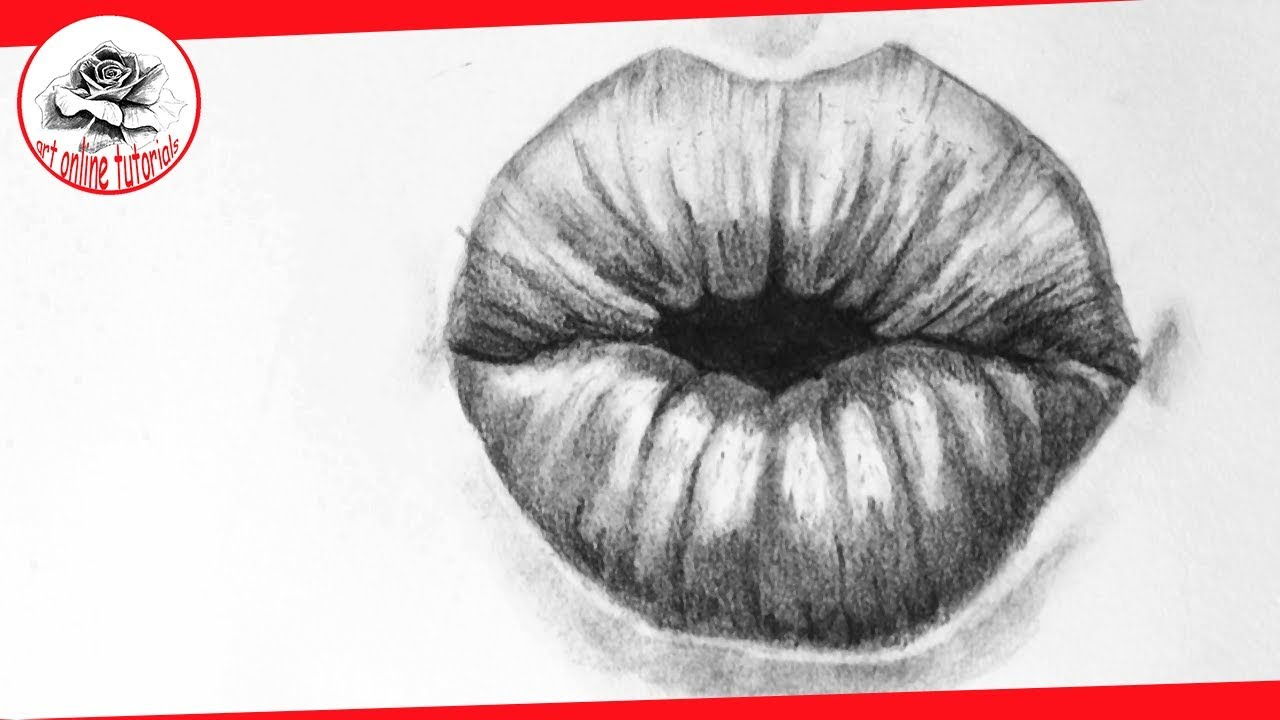 How To Draw Lips Kissing Step By Step By Pencil Youtube