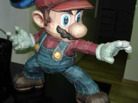 Papercraft Super Smash Bros. Brawl Mario Papercraft Stopmotion