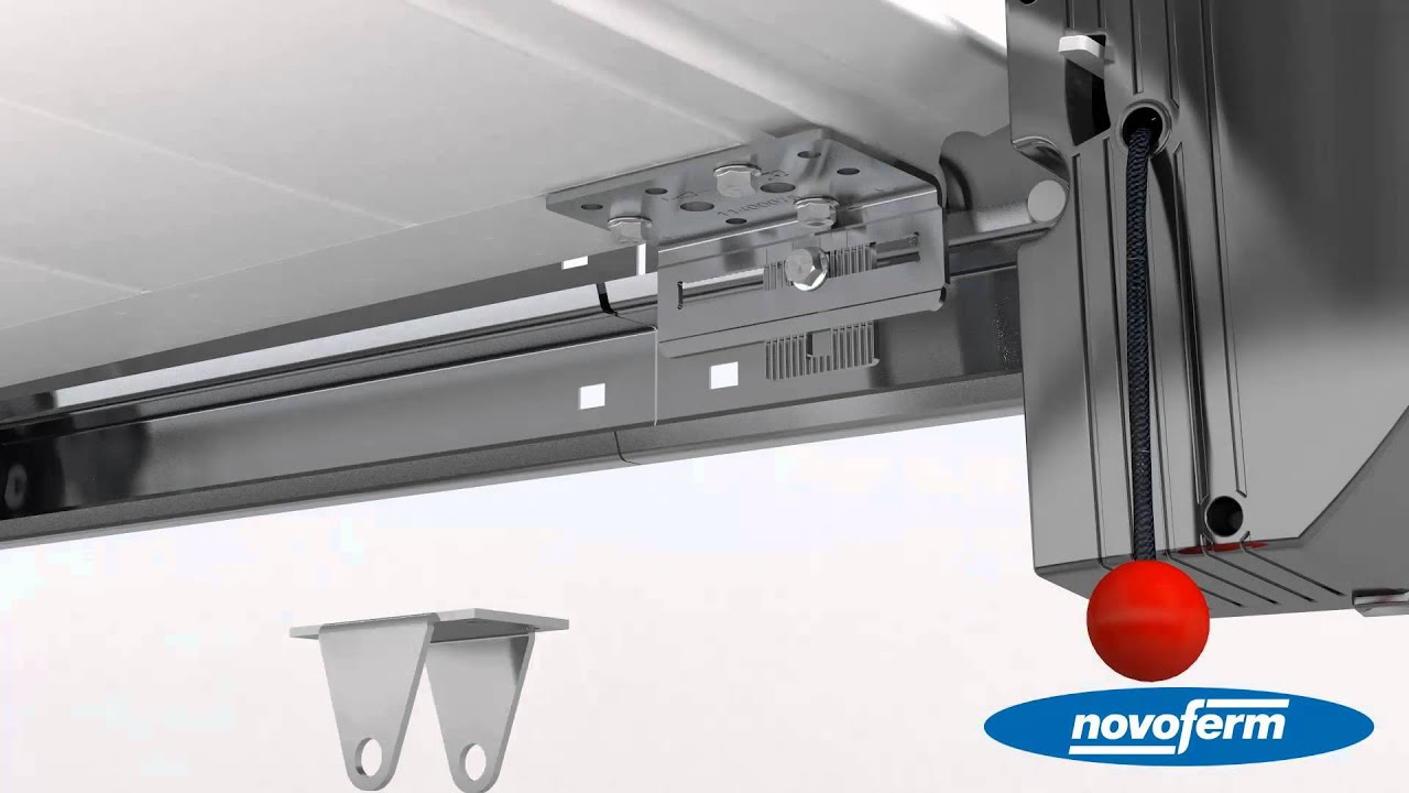 NovoPort Sectional Garage Door System iso 45 with vertical tension spring from Novoferm english