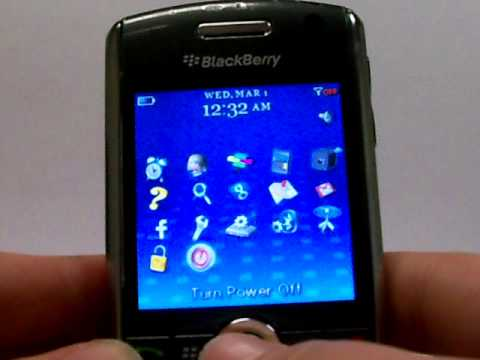 Blackberry Pearl 8120 Erase Cell Phone Info - Delete Data - Master Clear Hard Reset