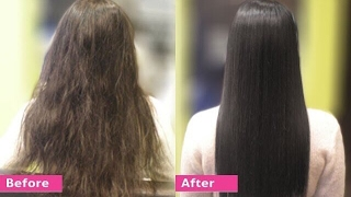 Permanent Hair Straightening at home with all natural ingredients | Silk & shine