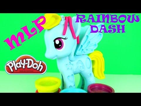 Play Doh My Little Pony Rainbow Dash Style Salon Playset Playdough Fun Toys Review MLP