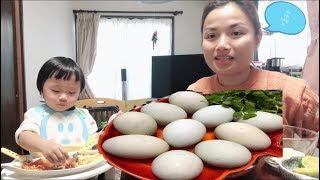 🇯🇵Thử thách ăn 10 trứng vịt lộn - Ăn xong rồi thở như C....hó -  Cuộc sống ở Nhật#73