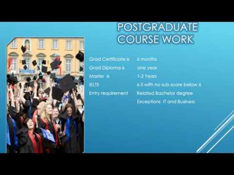 Post graduate in Australia