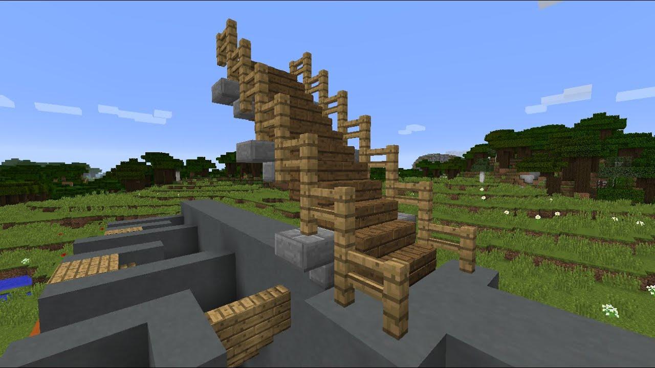 Делаем винтовую лестницу I Майнкрафт - YouTube