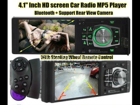 Распаковка автомагнитола   4 1'' Inch 1080P TFT Screen Car Radio Player MP3 MP4 MP5, блок питания  D