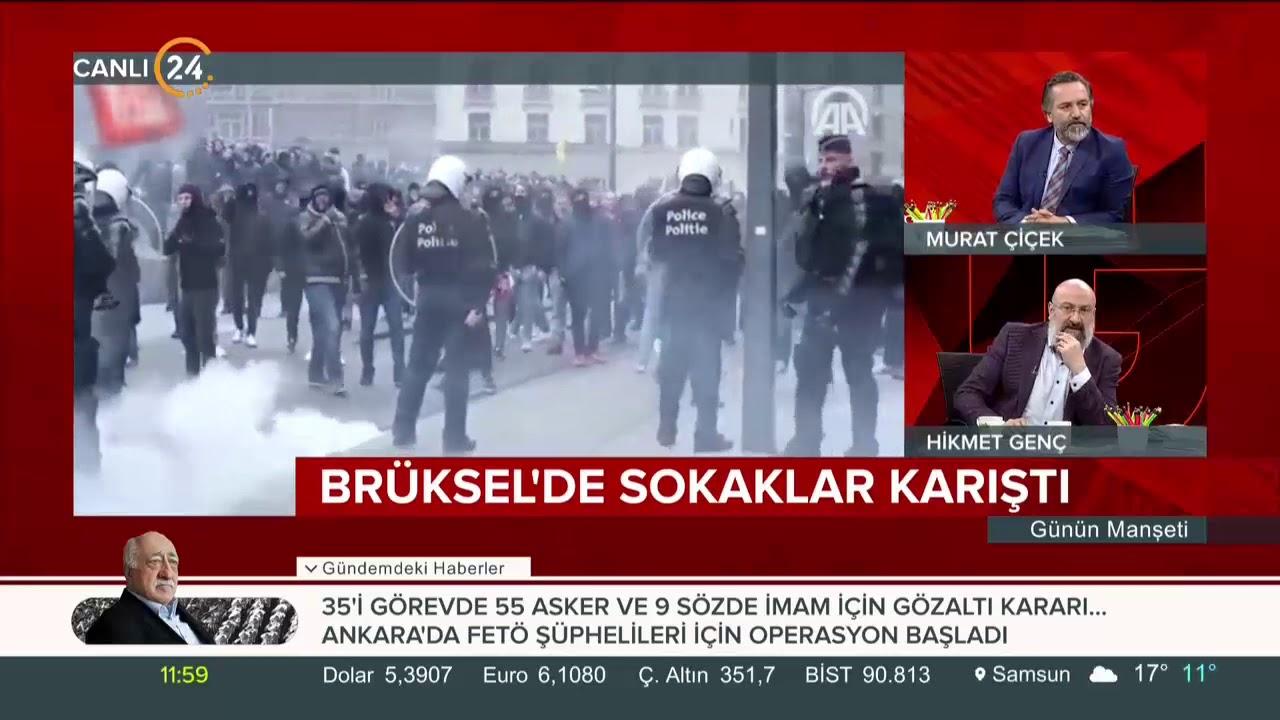 Brüksel'de sokaklar karıştı