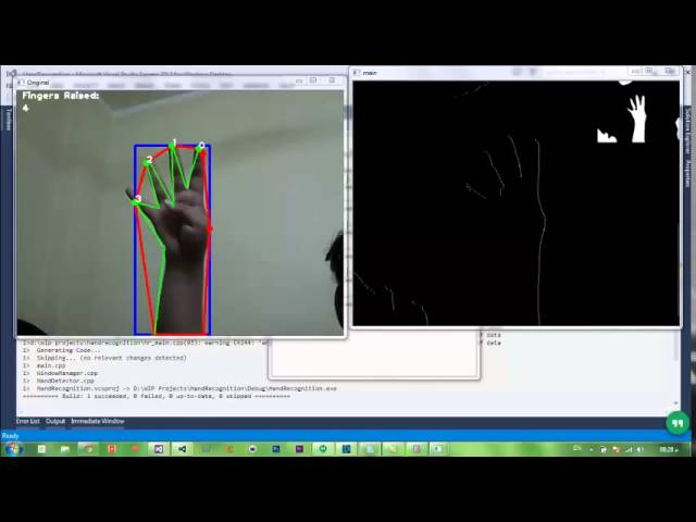 Hand Recognition & Finger Counter – OpenCV and C++