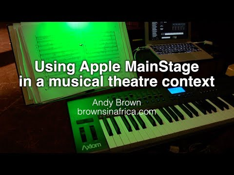 Apple MainStage in a live musical theatre performance