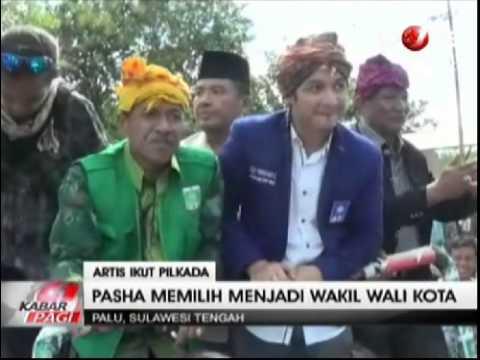 Pasha Ungu Resmi Mendaftar Jadi Calon Wakil Wali Kota Palu