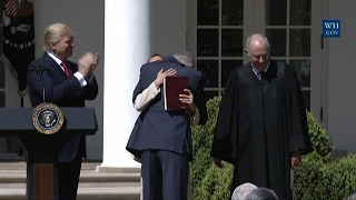 Supreme Court Justice Gorsuch Gives His Wife An Emotional Hug